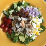 Whole 30 Paleo Chicken and Bacon Cobb Salad